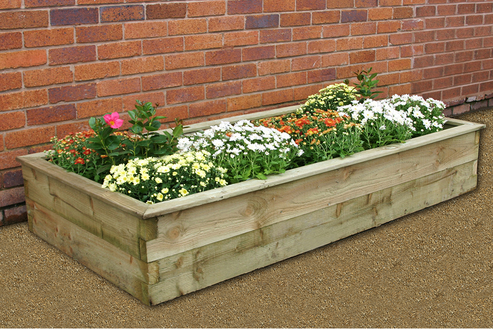 wooden raised garden