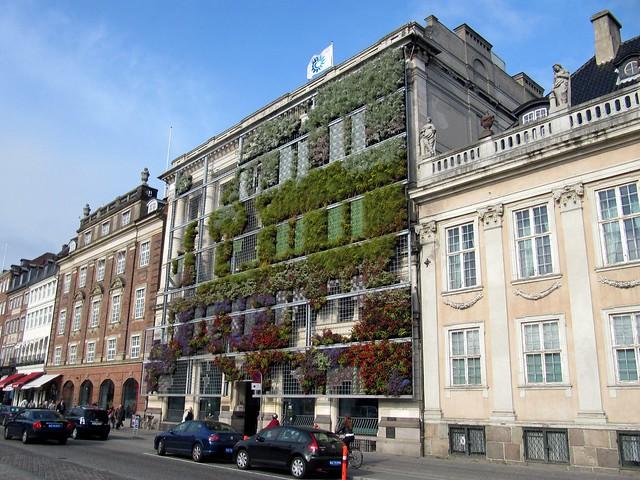 building with vertical garden